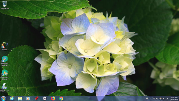 Wallpaper on a laptop with Windows 7 Home Premium.