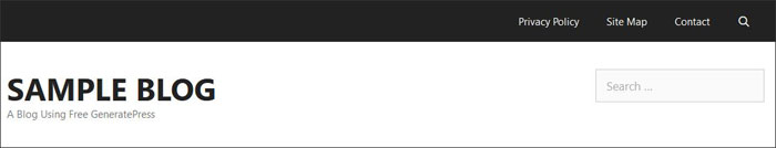 Remove search bar in GeneratePress