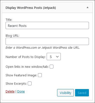 Add recent posts from other blog