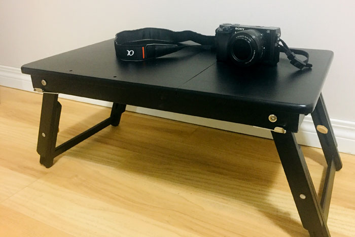 lapdesk table with son a6000